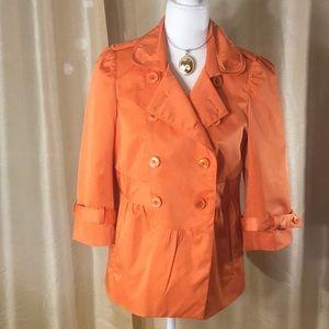 EUC Joy Joy Orange Double Breasted Jacket, M